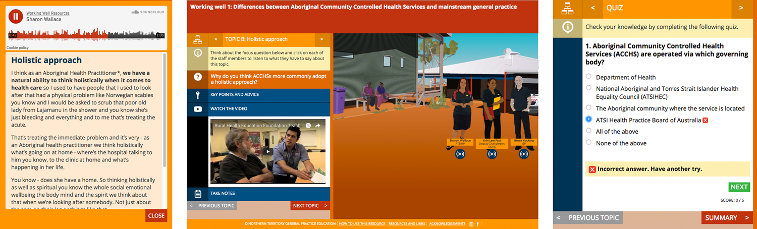 Elearning module on the differences between Aboriginal Community Controlled Health Services and mainstream general practice