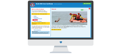 Online workbook for surf lifesaving volunteers