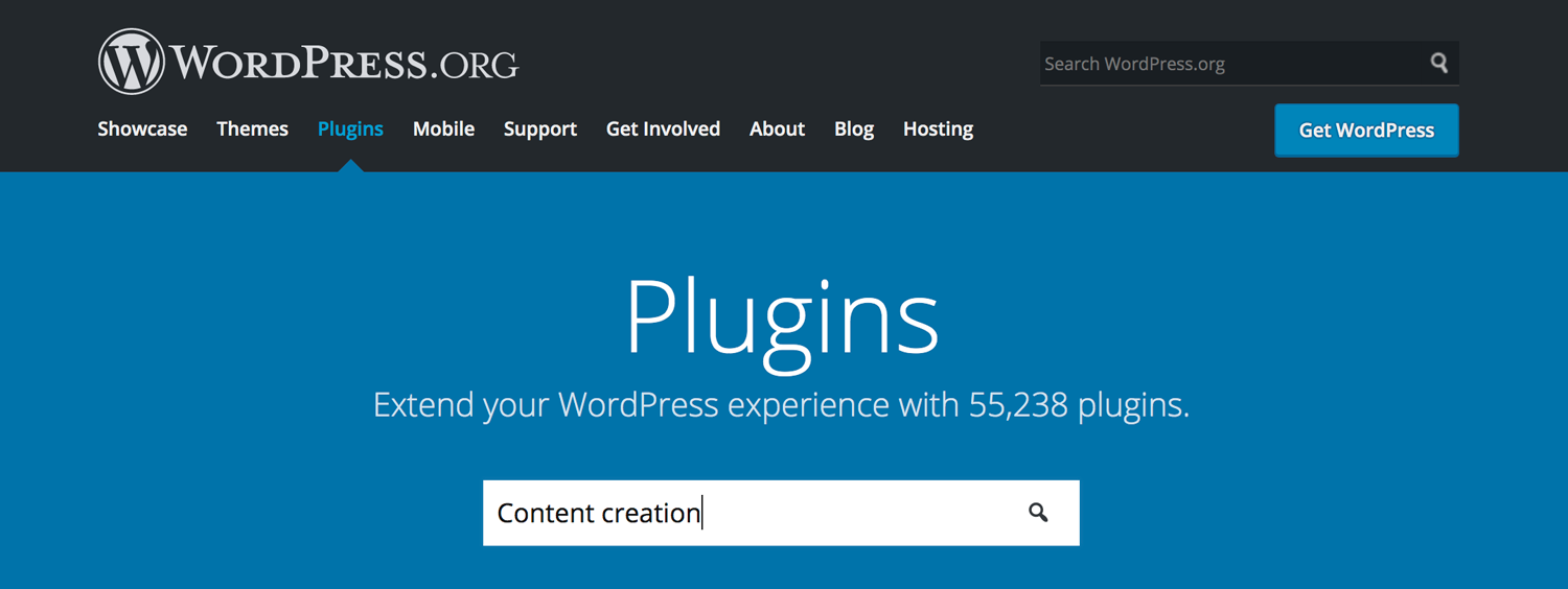 Access content generation plugins for WordPress